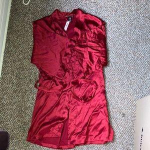Victoria's Secret NWT Red Satin Robe